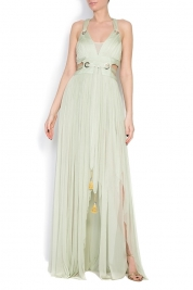 Elena Perseil Silk tulle maxi dress
