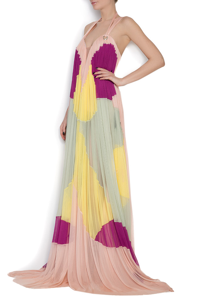 Butterfly silk tulle maxi dress Elena Perseil image 1
