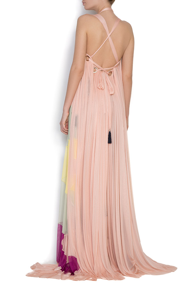 Butterfly silk tulle maxi dress Elena Perseil image 2
