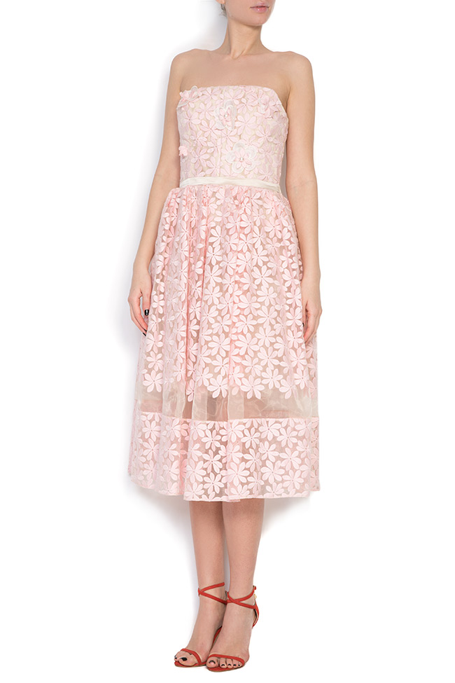 Embroidered silk-organza midi dress Elena Perseil image 0