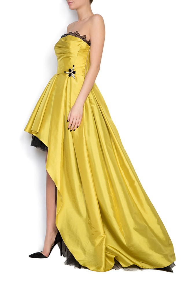 Oscar silk taffeta tulle asymmetric gown Elena Perseil image 1