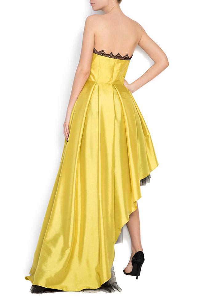 Oscar silk taffeta tulle asymmetric gown Elena Perseil image 2