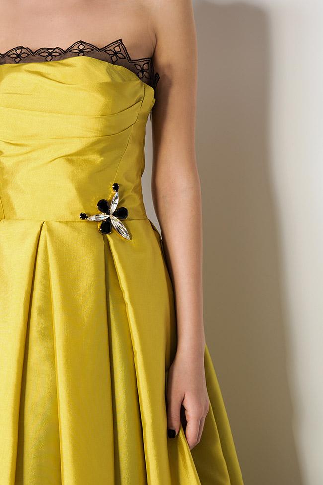 Oscar silk taffeta tulle asymmetric gown Elena Perseil image 3