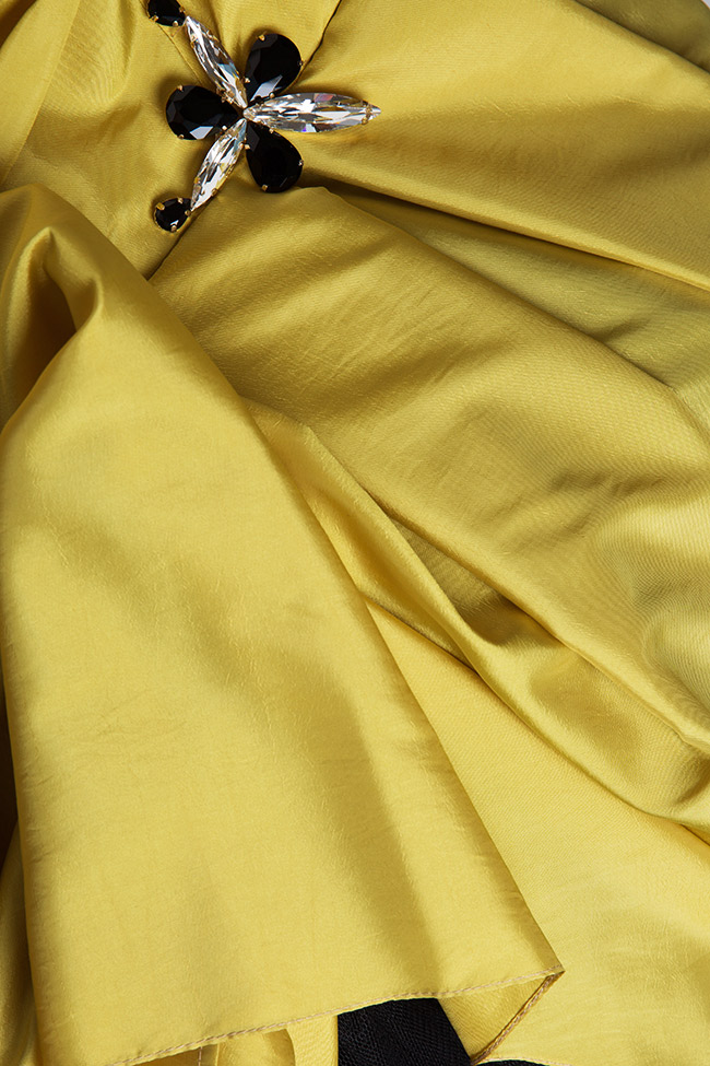 Oscar silk taffeta tulle asymmetric gown Elena Perseil image 4