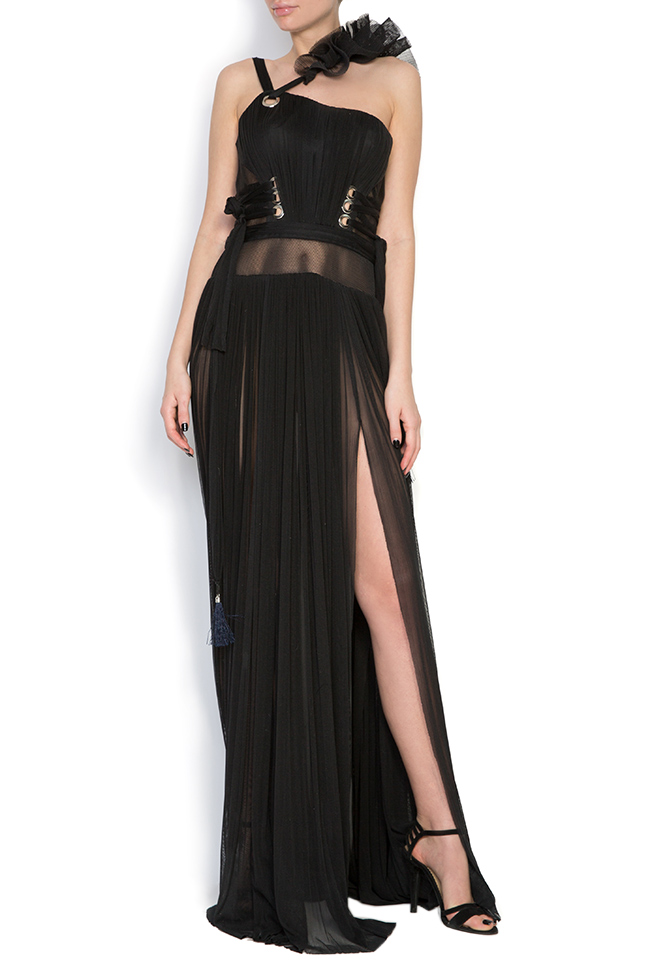 Silk tulle ruffled maxi dress Elena Perseil image 0