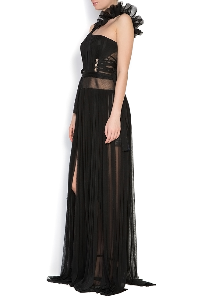 Silk tulle ruffled maxi dress Elena Perseil image 1