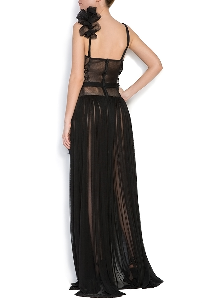 Silk tulle ruffled maxi dress Elena Perseil image 2