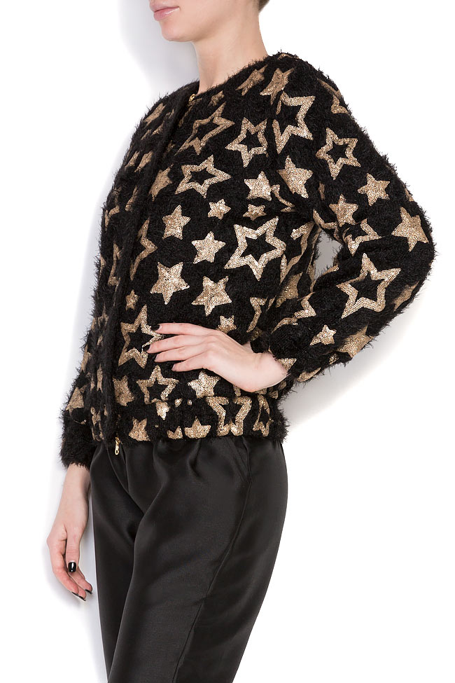 Star embellished cotton-blend jacket Izabela Mandoiu image 3