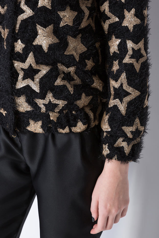 Star embellished cotton-blend jacket Izabela Mandoiu image 5