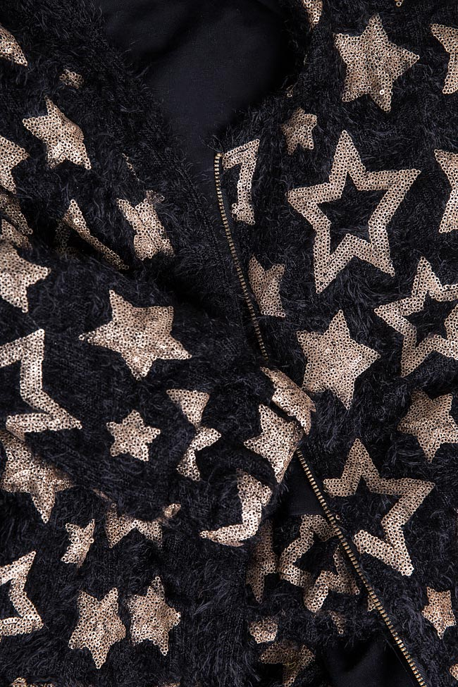 Star embellished cotton-blend jacket Izabela Mandoiu image 6