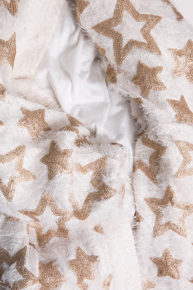Star embellished cotton-blend jacket Izabela Mandoiu image 7