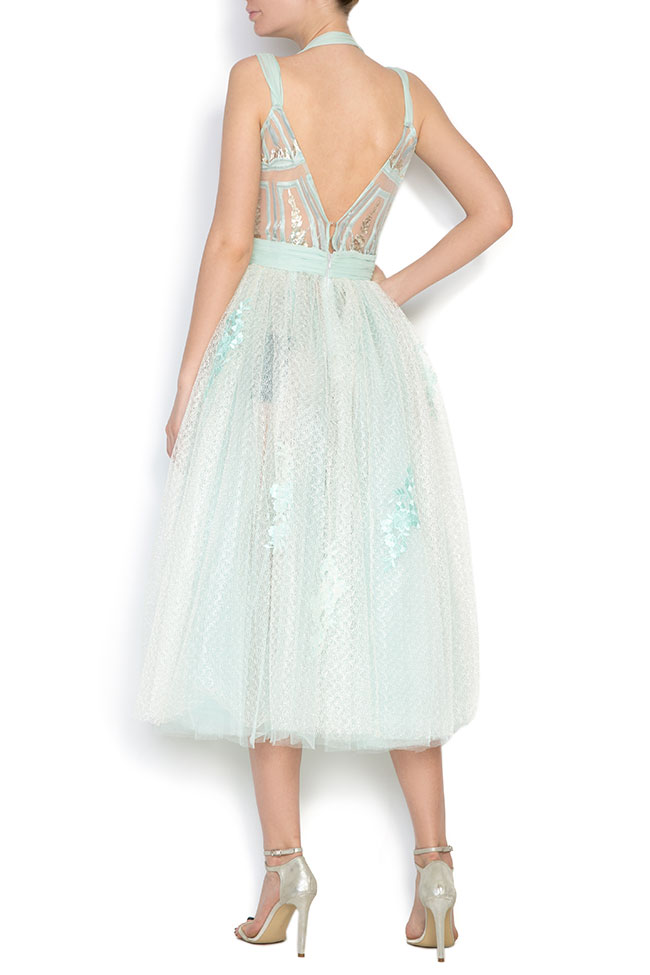 Embroidered silk-blend tulle organza midi dress Elena Perseil image 2