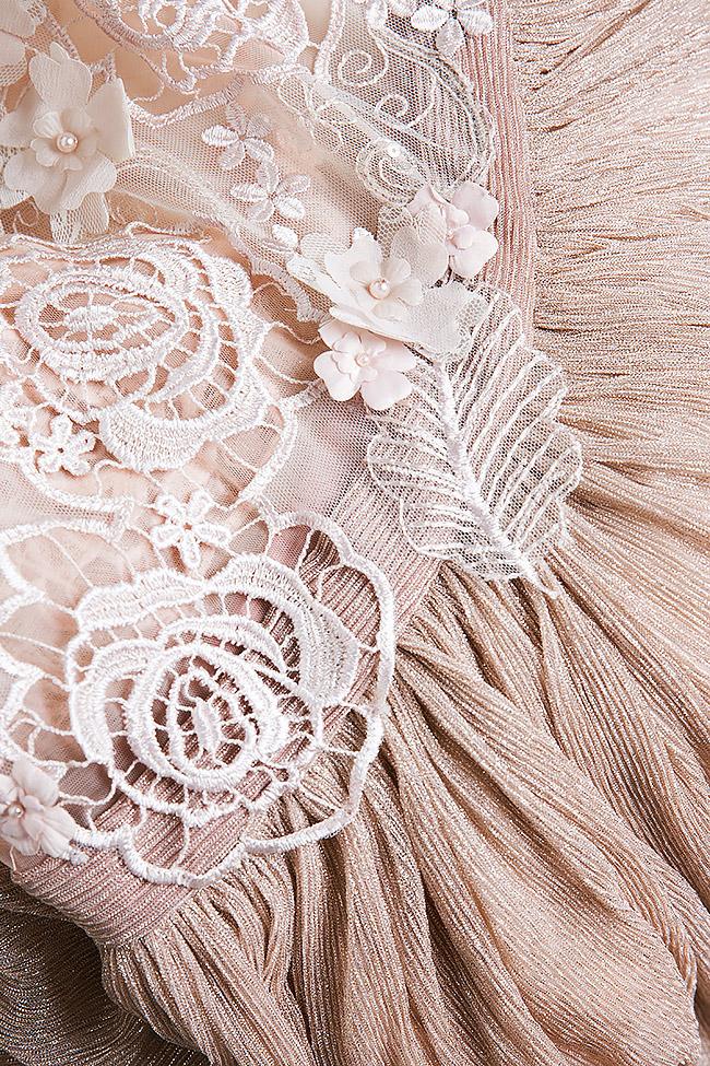 Robe brodée en tulle et lamé de soie Elena Perseil image 4