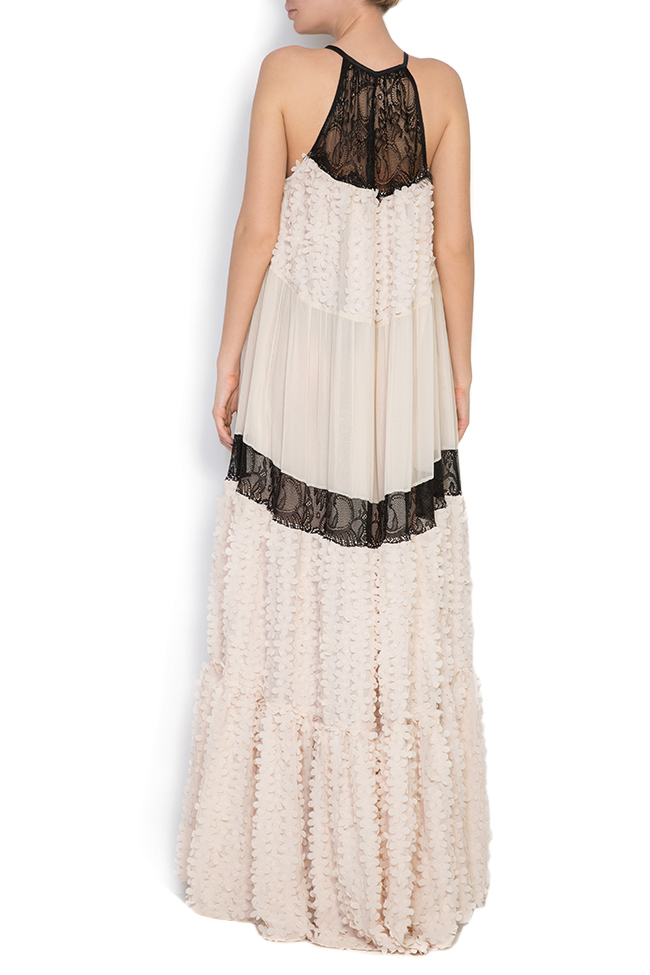 Embellished silk-chiffon and lace gown Elena Perseil image 2