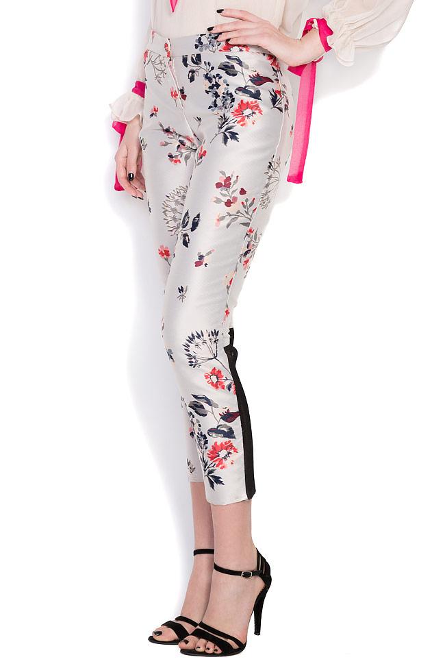 Floral-print silk taffeta pants Elena Perseil image 1