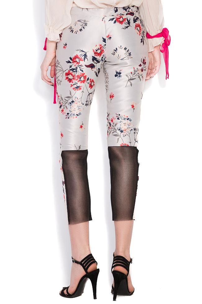 Pantalon en taffetas de soie Elena Perseil image 2