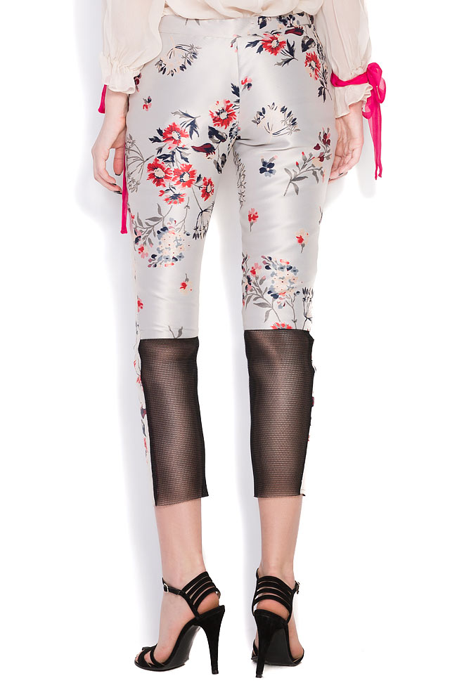 Floral-print silk taffeta pants Elena Perseil image 2