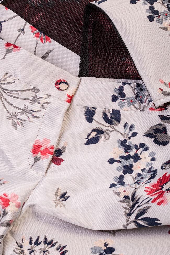 Floral-print silk taffeta pants Elena Perseil image 4