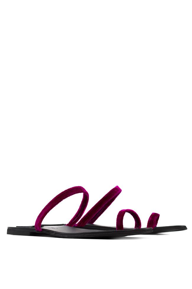 Papuci din catifea de bumbac Mihaela Gheorghe imagine 1