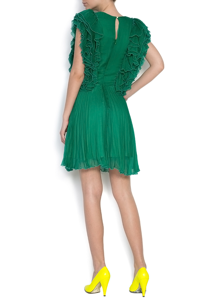 Angel ruffled silk mini dress Dorin Negrau image 2