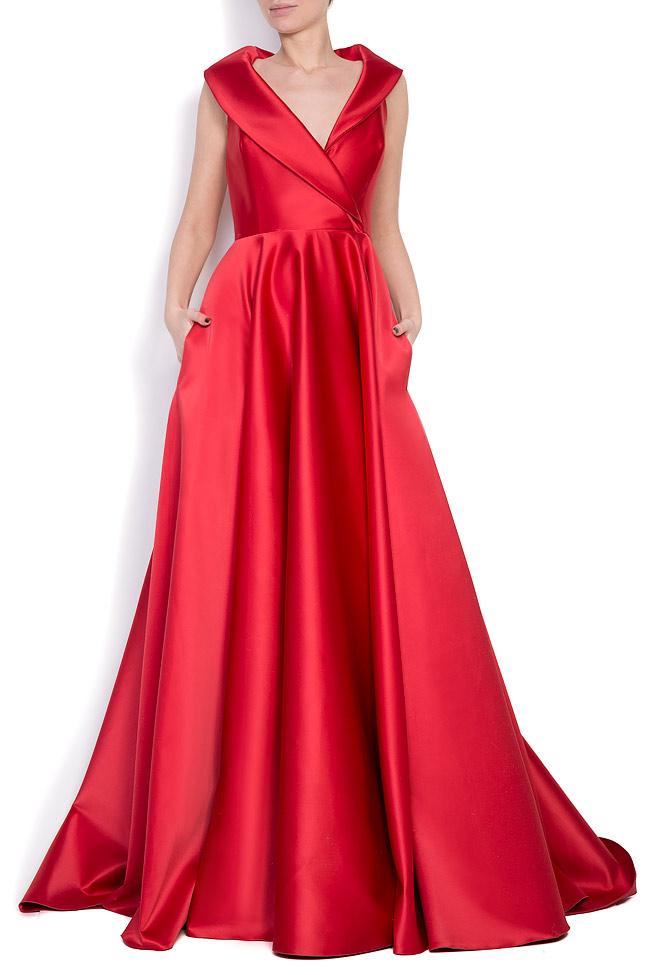 Silk-blend taffeta gown Cloche image 0