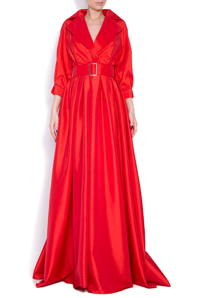Belted taffeta maxi dress Cloche image 0