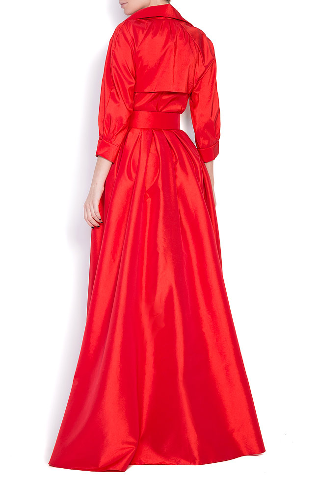 Belted taffeta maxi dress Cloche image 3