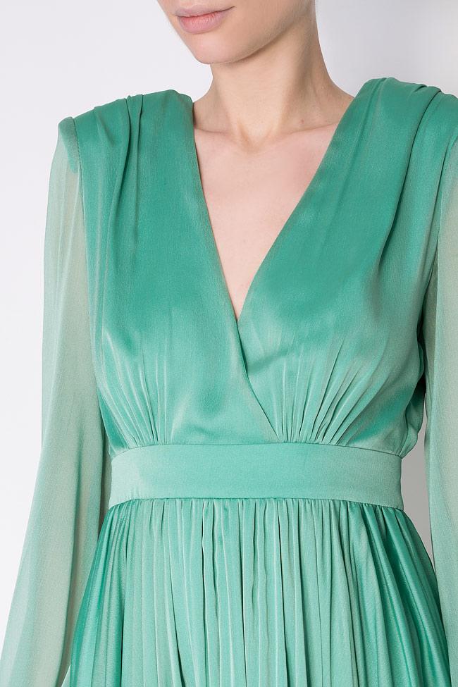 Pleated silk-chiffon mini dress Cloche image 3