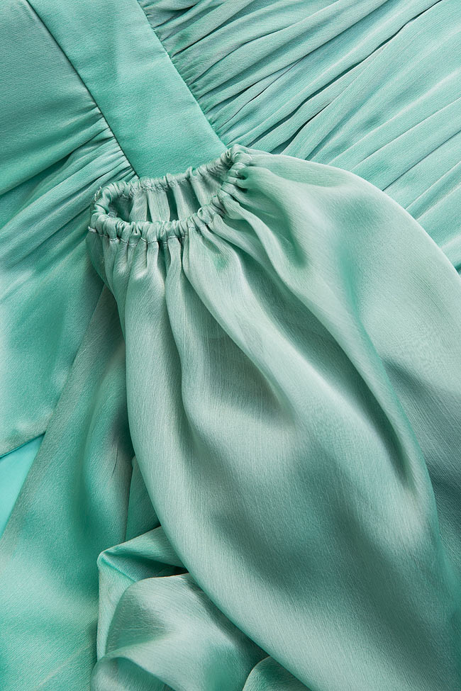 Pleated silk-chiffon mini dress Cloche image 4