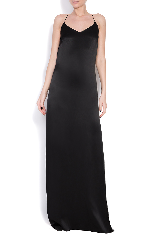 Open-back silk maxi dress Cloche image 0