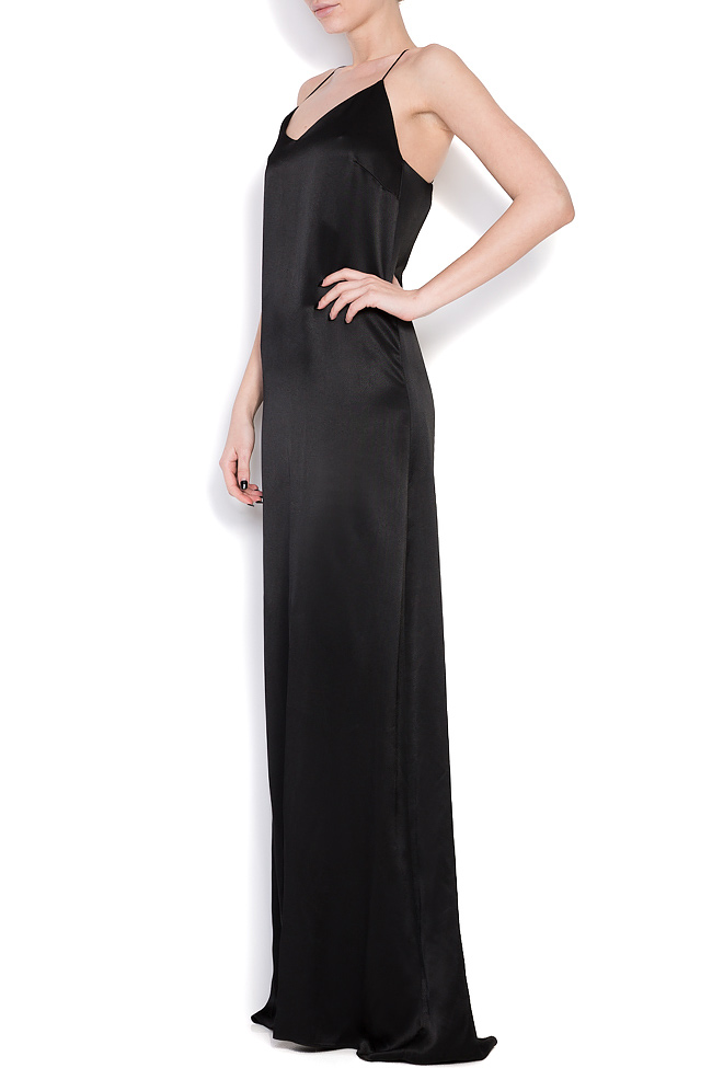 Open-back silk maxi dress Cloche image 1