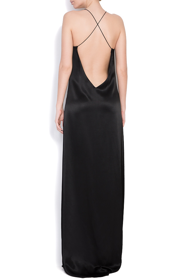 Open-back silk maxi dress Cloche image 2