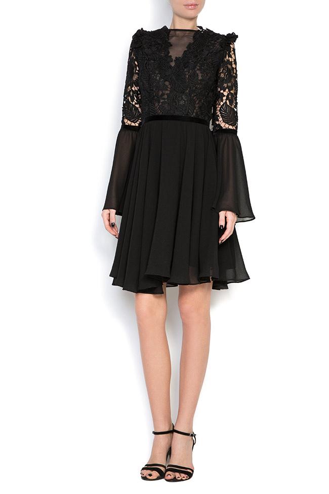 Lace-trimmed veil mini dress Love Love  image 0