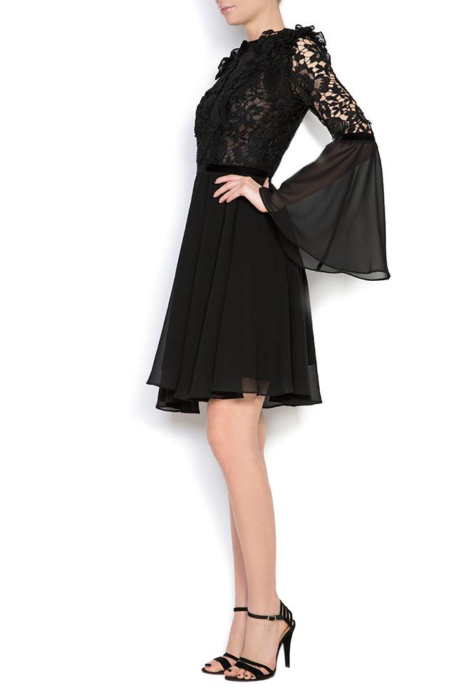 Lace-trimmed veil mini dress Love Love  image 1
