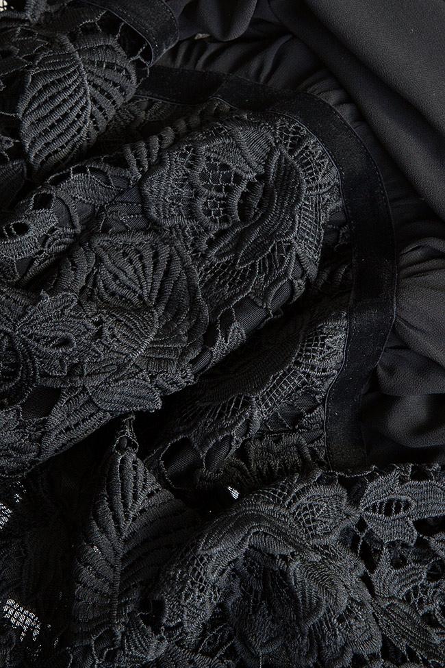 Lace-trimmed veil mini dress Love Love  image 4