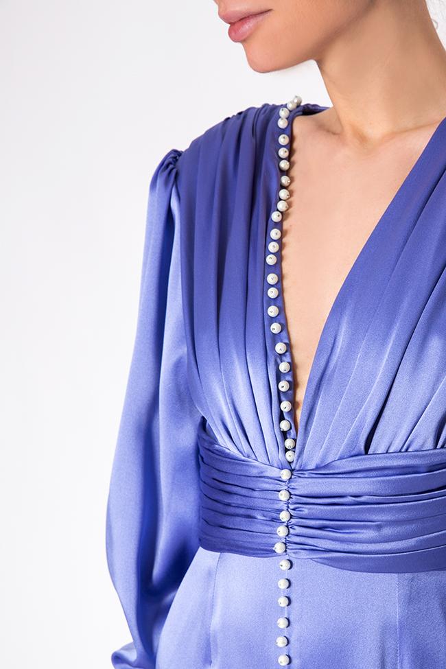 Robe en soie, ornée de perles cousues main Manuri image 3