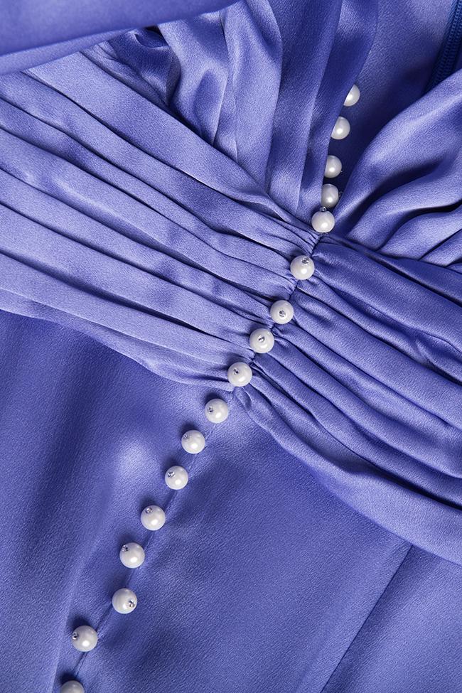 Rochie din matase brodata manual cu perle Manuri imagine 4