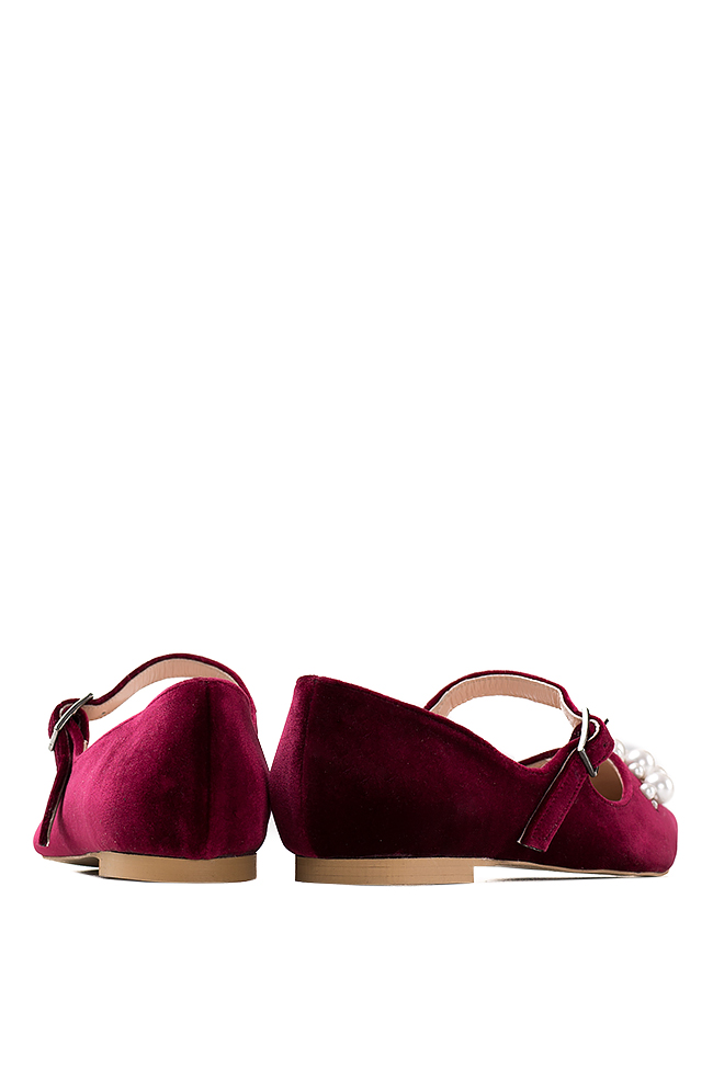 Embellished velvet point-toe flats Ana Kaloni image 2