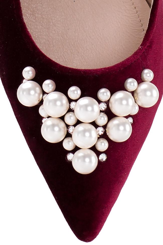 Ballerines en cuir et velours, ornées de perles Ana Kaloni image 3