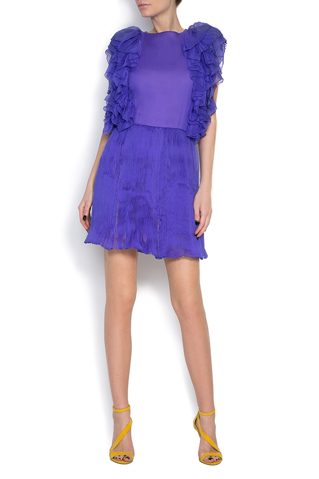 Ruffled silk mini dress Dorin Negrau image 0