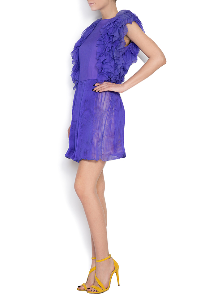 Ruffled silk mini dress Dorin Negrau image 1