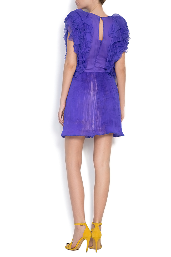 Ruffled silk mini dress Dorin Negrau image 2