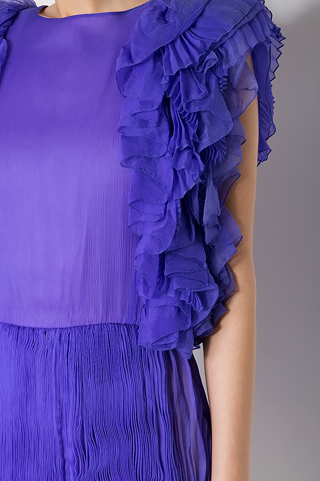 Ruffled silk mini dress Dorin Negrau image 3