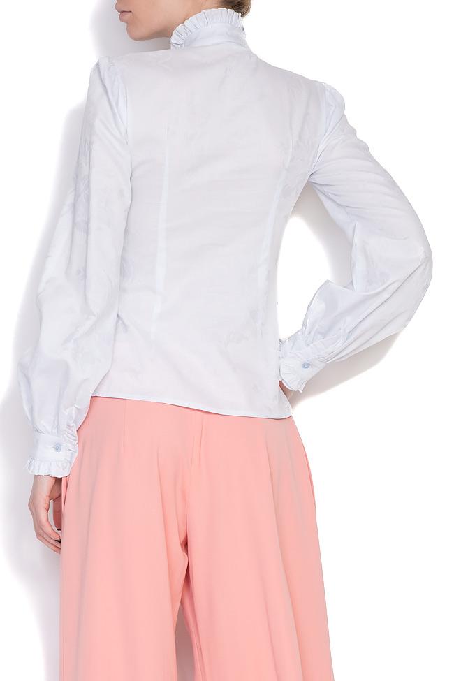 Pussy-bow cotton-blend shirt DALB by Mihaela Dulgheru image 3
