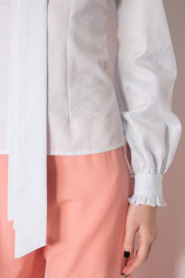 Pussy-bow cotton-blend shirt DALB by Mihaela Dulgheru image 4