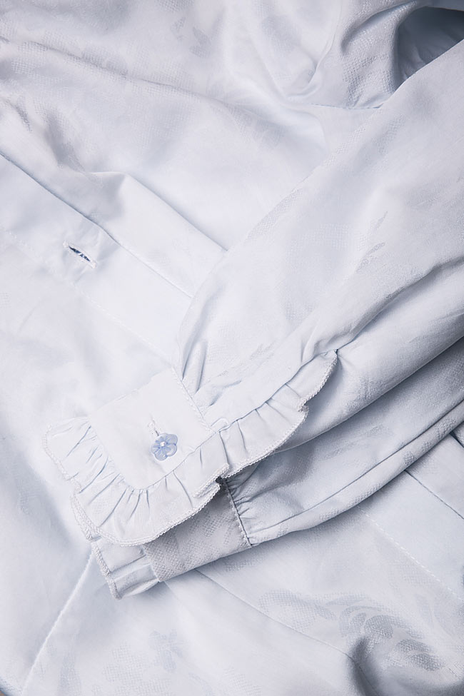 Pussy-bow cotton-blend shirt DALB by Mihaela Dulgheru image 5