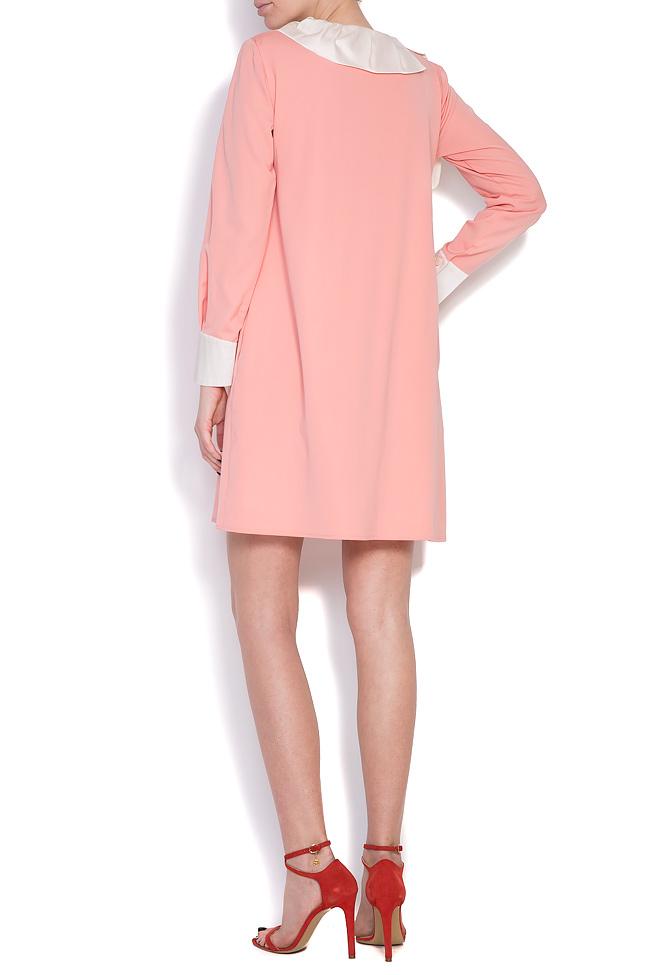 Wool and silk taffeta mini dress LRM image 2