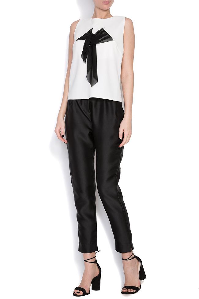 Fellwell bow-embellished crepe blouse Florentina Giol image 0