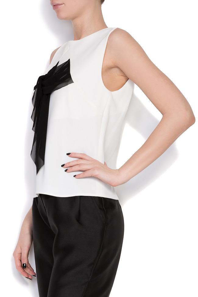 Fellwell bow-embellished crepe blouse Florentina Giol image 1