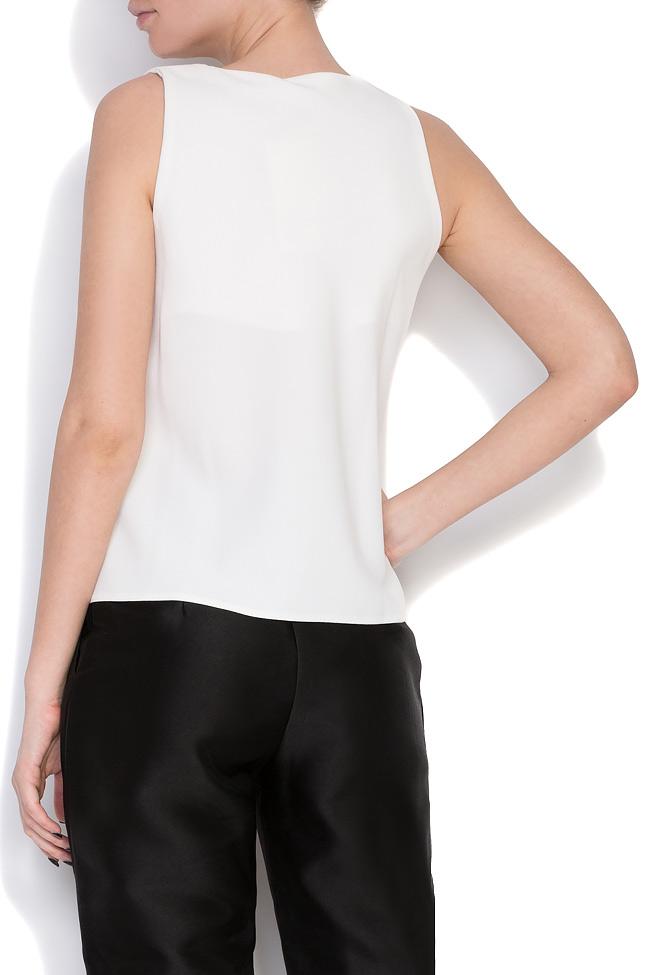 Fellwell bow-embellished crepe blouse Florentina Giol image 2
